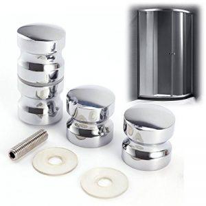 2x Poignée bouton 2 côtés pour porte verre salle de bain douche 3cm métal #747 de la marque SurePromise-One-Stop-Solution-for-Sourcing image 0 produit