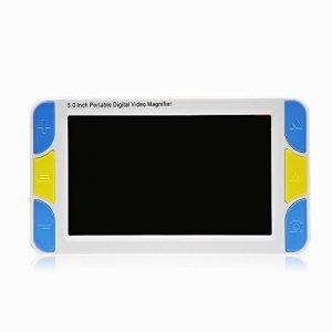 5.0 pouces Loupe électronique Loupe de lecture numérique avec poignée Portable Aide à la lecture électronique Avec la fonction de instructions vocaux (Grossissement 4-32X) de la marque Likeblue image 0 produit