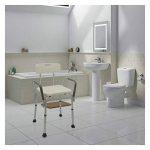 Cablematic - Chaise de douche réglable en hauteur de l'accoudoir pour les personnes âgées de la marque Cablematic image 1 produit