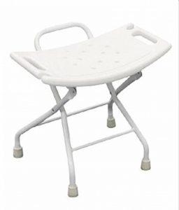 Chaise de douche pliante en acier inoxydable. Siège de douche pliant pour siège de douche antidérapant pour personnes âgées / handicapées avec verrouillage de sécurité et siège de baignoire blanc. 120 de la marque GHH image 0 produit