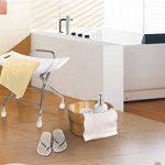 Chaise de douche pliante en acier inoxydable. Siège de douche pliant pour siège de douche antidérapant pour personnes âgées / handicapées avec verrouillage de sécurité et siège de baignoire blanc. 120 de la marque GHH image 1 produit