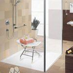 Chaise de douche pliante en acier inoxydable. Siège de douche pliant pour siège de douche antidérapant pour personnes âgées / handicapées avec verrouillage de sécurité et siège de baignoire blanc. 120 de la marque GHH image 2 produit