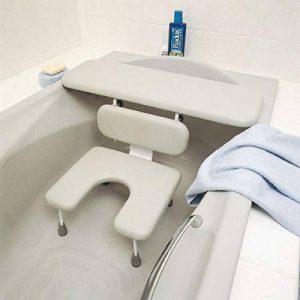 Combiné Homecraft planche et siège Ascot avec découpe, planche et siège de bain, système de sièges rembourrés, idéal pour les personnes âgées, les personnes handicapées et à mobilité réduite de la marque Homecraft image 0 produit