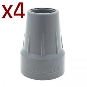 """Coopers - Lot de 4 embouts - pour béquille/canne de marche/déambulateur - 22 mm (7/8"""") de la marque COOPERS image 0 produit"""