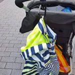 Crochets Poussettes par Baby Uma - Clips Mousquetons pour Accrochez vos Achats, Sacs et Cabas sur un Landau. Universel, Noir, Pack de 2 de la marque Baby Uma image 4 produit
