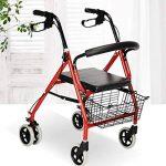 CZL-Wheelchairs Léger Pliant Réglable Walker Conduite Médicale, Vieil Homme Poussant Scooter Peut S'Asseoir dans Le Vieux Caddie pour Acheter Quatre Béquilles Walker de la marque CZL-Wheelchairs image 1 produit