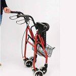 CZL-Wheelchairs Léger Pliant Réglable Walker Conduite Médicale, Vieil Homme Poussant Scooter Peut S'Asseoir dans Le Vieux Caddie pour Acheter Quatre Béquilles Walker de la marque CZL-Wheelchairs image 2 produit