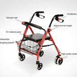 CZL-Wheelchairs Léger Pliant Réglable Walker Conduite Médicale, Vieil Homme Poussant Scooter Peut S'Asseoir dans Le Vieux Caddie pour Acheter Quatre Béquilles Walker de la marque CZL-Wheelchairs image 3 produit