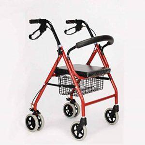 CZL-Wheelchairs Léger Pliant Réglable Walker Conduite Médicale, Vieil Homme Poussant Scooter Peut S'Asseoir dans Le Vieux Caddie pour Acheter Quatre Béquilles Walker de la marque CZL-Wheelchairs image 0 produit