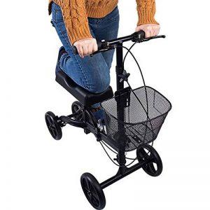 Déambulateur Pliant Genou Walker Scooter articulé au Genou avec Coussin orthopédique de la marque ZZYYZZ déambulateur pliant image 0 produit