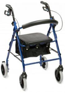 Drive Medical R8BL-23 Déambulateur en aluminium léger Assise rembourrée (Bleu) de la marque Drive-Medical image 0 produit