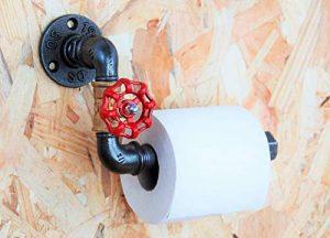 Dérouleur papier-toilette vanne style industriel en tuyaux de plomberie de la marque N/D image 0 produit