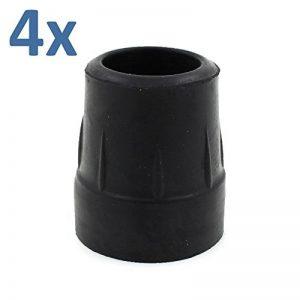 EMBOUTS EN CAOUTCHOUC 25mm 2.5cm ROBUSTE - NOIR : QUANTITÉ 4 OBJETS de la marque Lifeswonderful Ltd image 0 produit