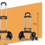 En Acier Inoxydable Chariot Voiture Portable Chariot D'escalade Escaliers Trolley Bagages Remorque Spéciale Pneu Design Facile À Monter Les Escaliers, Peut Être Stocké Dans Le Coffre De La Voiture de la marque QINNIQ image 3 produit