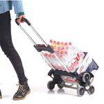 En Acier Inoxydable Chariot Voiture Portable Chariot D'escalade Escaliers Trolley Bagages Remorque Spéciale Pneu Design Facile À Monter Les Escaliers, Peut Être Stocké Dans Le Coffre De La Voiture de la marque QINNIQ image 4 produit