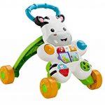 Fisher-Price Mon Trotteur Zèbre Parlant pour apprendre à marcher avec musique et activités d'éveil, pour bébé de 6 mois et plus, version française, DLD96 de la marque Fisher-Price image 4 produit