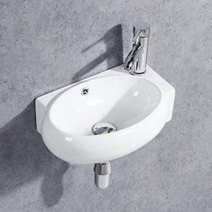 Gimify Lave Main Suspendu Ovale Lavabo Mural pour wc (Ovale 420 * 280 * 145mm) de la marque Gimify image 0 produit