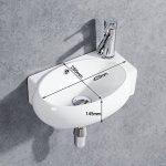 Gimify Lave Main Suspendu Ovale Lavabo Mural pour wc (Ovale 420 * 280 * 145mm) de la marque Gimify image 1 produit