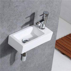 Gimify Lave Main Toilette WC Petit Lavabo Angle (Robintterie et Siphone Inclus) de la marque Gimify image 0 produit