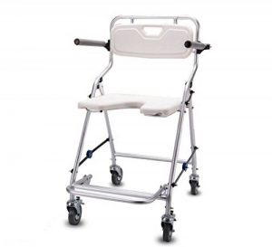 HTDZDX Tabourets de Bain pour chaises de Douche pour handicapés, tabourets de Salle de Bains pour Personnes âgées, antidérapants et Pliables (Size : with Wheels) de la marque HTDZDX-tabouret de douche image 0 produit