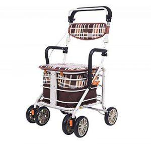 HYYQG Déambulateur Adulte, Chariot Mobile léger et Pliable Transport en Transit Chariot de magasinage à 4 Roues Hauteur réglable magasinage pour supermarché, Brown de la marque HYYQG image 0 produit