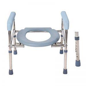 L'obésité Chaise percée - Pliant 3N1 Chaise de Toilette - Portable, barrière médicale siège de Toilette avec accoudoirs, réglable en Hauteur de la marque Toilet chair image 0 produit