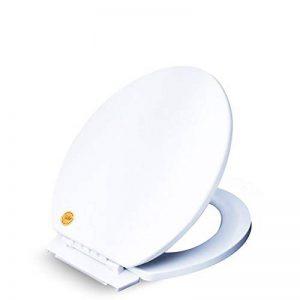 LOHOX Abattant WC Épais-en avec Frein de Chute et Démontage Rapide Lunette de Toilette-Résine UF Surface Optimisée Anti-Bactérien Résistante à La Décoloration de la marque LOHOX image 0 produit