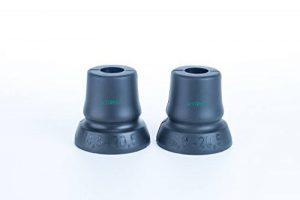 Lot de 2 Gehhilfenfuß avec une grande surface de contact, idéal pour cannes béquilles aides appropriés pour les tuyaux avec la marche D = 18,5 mm - 20,5 mm de la marque activera image 0 produit