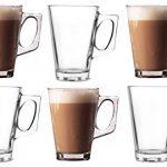 Lot de 6verres pour latte Tasses 250ml (Arc)–Idéal pour expresso, cappuccino, Café, Thé, Chocolat Chaud, boissons chaudes, Dolce Gusto et Tassimo Machines à Café présentée par cuisine étoiles de la marque Kitchen-Stars image 1 produit