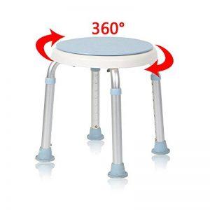 MCTECH Tabouret de Douche Réglable en Hauteur Siège de Douche avec 360°siège pivotant de la marque MCTECH image 0 produit