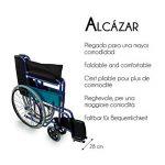 Mobiclinic Alcázar Fauteuil roulant pliant Manuel Largeur d'assise 46 cm Bleu de la marque Mobiclinic image 2 produit