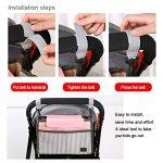 Organisateur pour landau, sac de rangement pour poussette JINCHANGWU Sac Organisateur Grands Espaces pour accessoires des bébés - Blanc de la marque JINCHANGWU image 3 produit