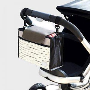 Organisateur pour landau, sac de rangement pour poussette JINCHANGWU Sac Organisateur Grands Espaces pour accessoires des bébés - Blanc de la marque JINCHANGWU image 0 produit