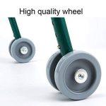 Pliage cadre de marche 2 roues légère hauteur réglable Walker en aluminium rollator pour personnes âgées handicapés de la marque DGEMF image 2 produit