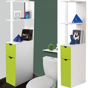 ProBache - Meuble WC étagère bois gain de place pour toilette 2 portes vertes de la marque Probache image 0 produit