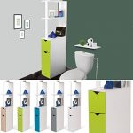 ProBache - Meuble WC étagère bois gain de place pour toilette 2 portes vertes de la marque Probache image 2 produit