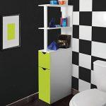 ProBache - Meuble WC étagère bois gain de place pour toilette 2 portes vertes de la marque Probache image 3 produit