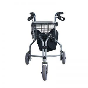 Rollator en fauteuil roulant 3 roues pliant le cadre de marche réglable en hauteur léger avec chariot à freins verrouillable de la marque DGEMF image 0 produit