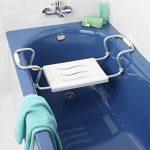 Siège de Baignoire Secura Extensible, Capacité de Charge 150 kg, Acier, Plastique, Blanc Dimensions 55-65 x 18 x 26 cm de la marque Wenko image 1 produit