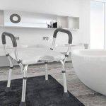 Siège de bain Banquette Tabouret de douche Chaise de douche Assiette en U à hauteur réglable Aide à la baignade pour personnes âgées handicapées et handicapées Poids maximum de l'utilisateur 115 kg,B de la marque WenTao image 4 produit