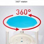 Siège de salle de bains for baignoire (rond) pivotant for femme âgée enceinte handicapé hauteur réglable alliage d'aluminium polyvalent (Color : Blue1) de la marque StoolMGQ image 2 produit