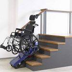 SISHUINIANHUA Fauteuil Roulant électrique d'escalier, Fauteuil Roulant portatif Manuel pour Personnes âgées âgées, Monter et descendre Les escaliers de la marque SISHUINIANHUA image 1 produit