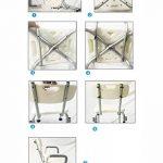 StoolMGQ Chaise de Bain for Banquette de Douche, avec accoudoirs et Dossier, Aide au Bain for Personnes âgées, handicapées et handicapées, Cadre en Aluminium à Hauteur Variable de la marque StoolMGQ image 3 produit