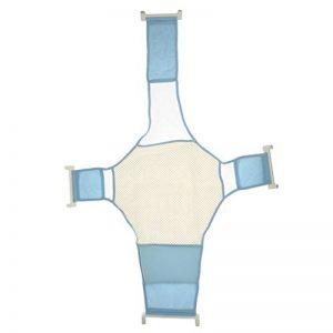 Support de Siège de Baignoire Bébé Infantile Réglable Maille Douche Croix de Sécurité - Bleu de la marque Générique image 0 produit