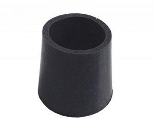 Sysfix Lot de 4 embouts en caoutchouc pour déambulateur, diamètre 25mm, couleur noir de la marque Sysfix image 0 produit