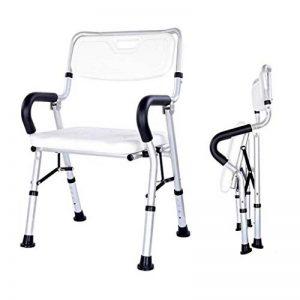 Tabouret de douche avec accoudoirs et dossier, pliage, aide au bain for personnes âgées, handicapées et handicapé, alliage d'aluminium antidérapant (Color : B) de la marque StoolMGQ image 0 produit