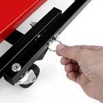TRESKO® Chariot de Visite Mécanicien Table de Montage métallique Robuste | Plate-Forme Mobile à 6 Roues avec capacité de Rotation à 360° (Rouge) de la marque TRESKO image 3 produit
