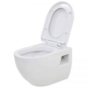 vidaXL WC Suspendu en Céramique Blanc Salle de Bains Cuvette de Toilette de la marque vidaXL image 0 produit