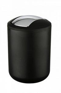 WENKO 21211100 Poubelle à Couvercle Oscillant Brasil S, Capacité 2 L, Incassable, TPE, Ø 14 x 21 cm, Noir de la marque Wenko image 0 produit
