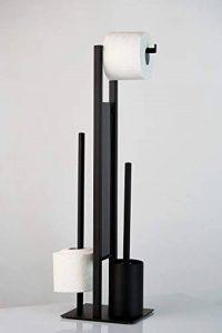 Wenko 23708100 Combiné WC sur Pied, Noir, 18 x 70 x 23 cm de la marque Wenko image 0 produit